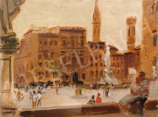 Eladó Breznay József - Palazzo Vecchio (Firenze) festménye