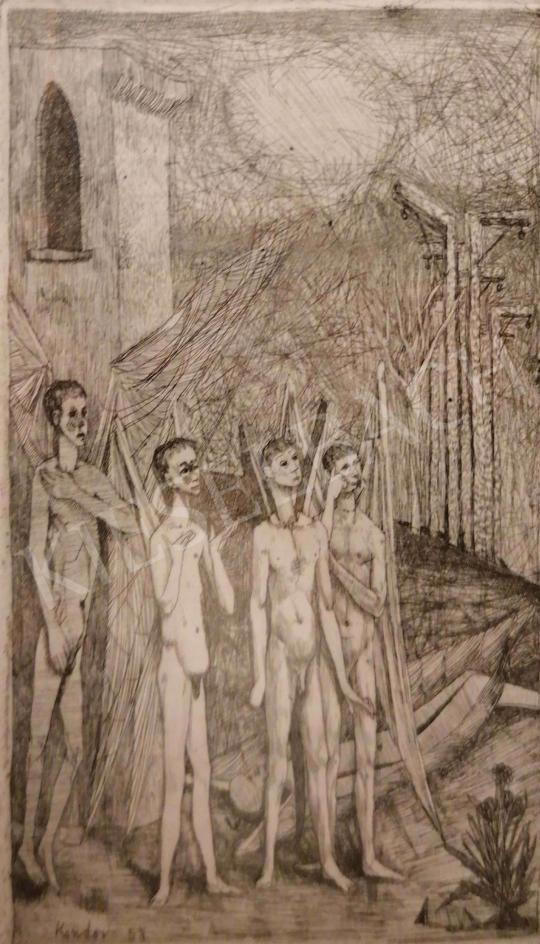 Eladó Kondor Béla - Angyalok, 1958 festménye