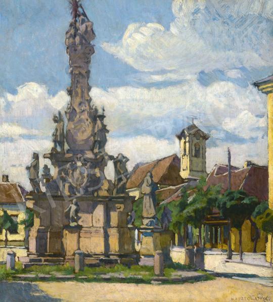 Eladó Kosztolányi Kann Gyula - Kisváros, 1910-es évek festménye