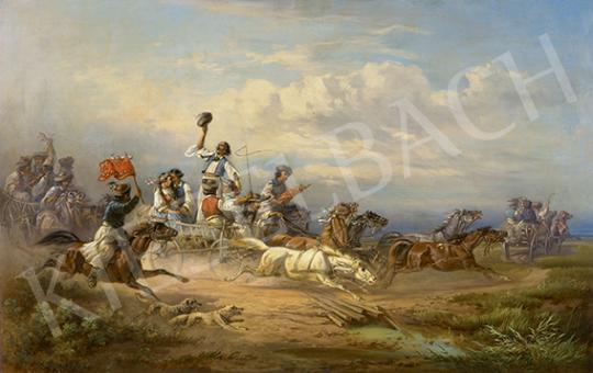Eladó  Venne, Adolf van der - Lakodalmas menet a Hortobágyon, 1856 festménye