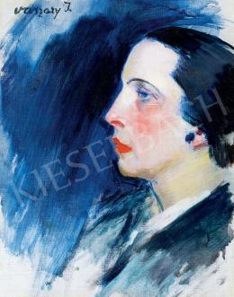 Vaszary János - Art deco nő (A piros rúzs), 1930-as évek