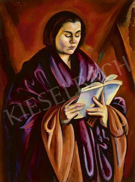 Eladó Uitz Béla - Olvasó nő, 1918 festménye