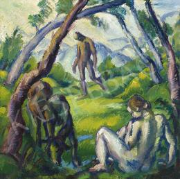 Derkovits, Gyula - At the Fount (Golden Age), 1921