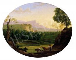 CR jelzéssel, 1800 körül - Romantikus táj pásztorfiúval