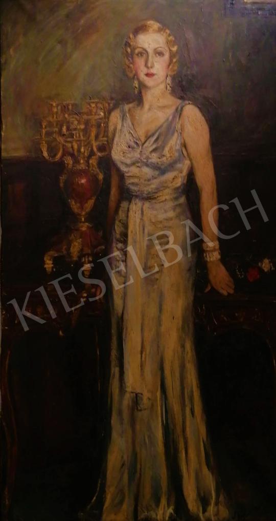 Eladó Bolmányi Ferenc - Fiatal hölgy enteriőrben (Gervay Magdolna portréja), 1932  festménye