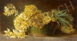 Count Erdődy, Gyuláné - Count Széchenyi, Emília - Flower Still-Life, 1904