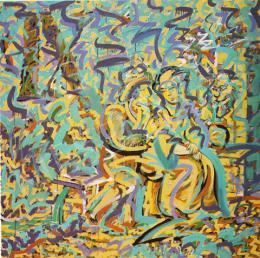 Kelemen, Károly - At the Fountain, 1983