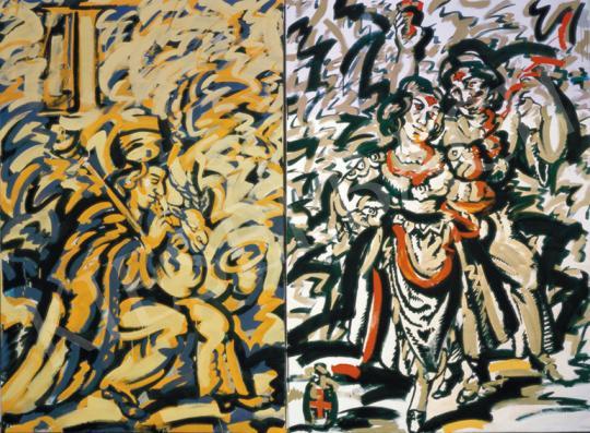 Eladó Kelemen Károly - Cigánytánc, 1983 festménye