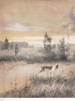 Neogrády Antal - Vadászat (A vadászkutya)
