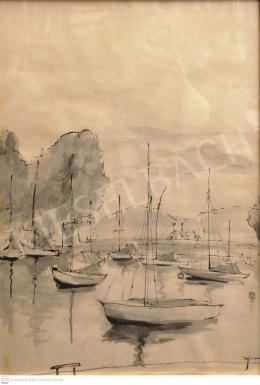 Unknown Hungarian painter, 20th century - Port by Balatonföldvár