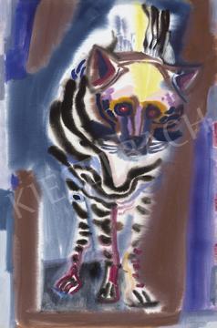 Eladó  Hajnal János - Ragadozó, 1960-as évek festménye