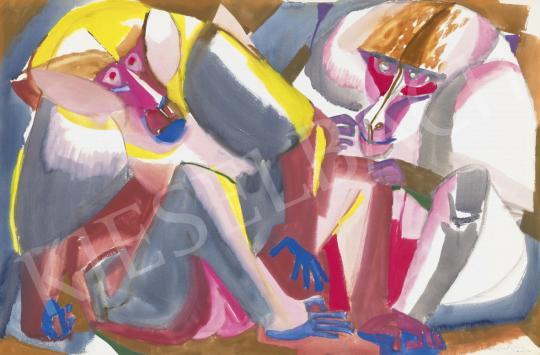 Eladó  Hajnal János - Ketten, 1962 festménye