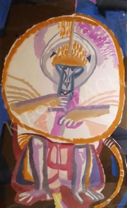 Hajnal, János - White Monkey Eating, 1960s