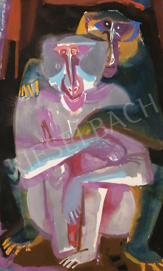 Hajnal János - Család (Összetartozás), 1960-as évek festménye