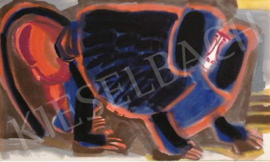 Eladó  Hajnal János - A galléros pávián, 1960-as évek festménye
