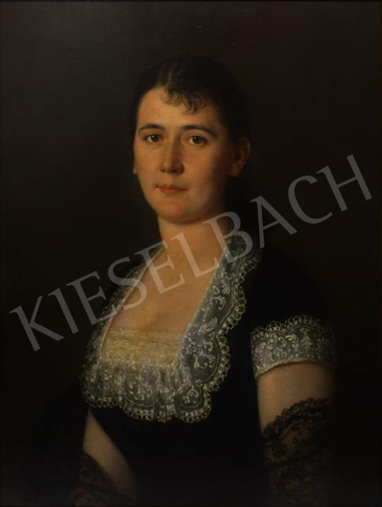 Eladó Than Mór - Fiatal hölgy arcképe festménye