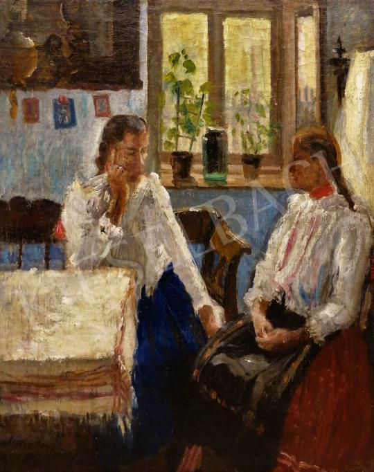 Eladó Monostori Moller Pál - Lányok népviseletben, 1935 festménye
