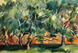 Lukács, Ágnes - Trees in front of the Orange House, 1982
