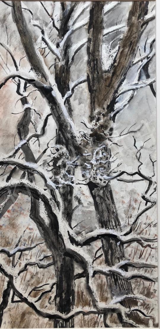 Eladó  Lukács Ágnes - Havas fák, 1975 festménye