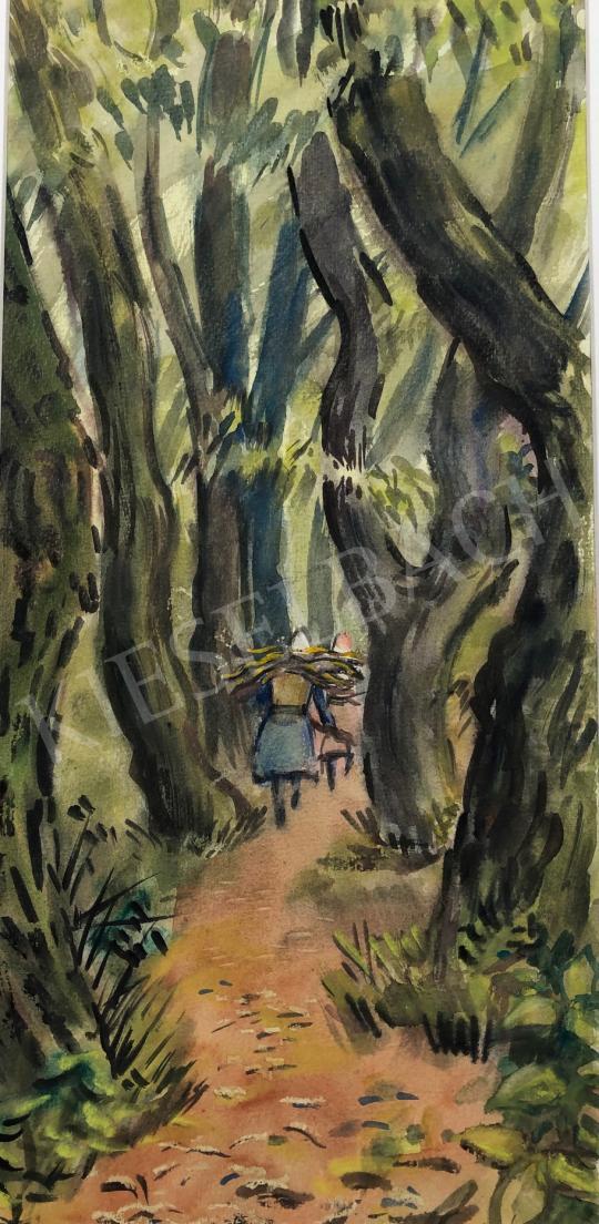 Eladó Lukács Ágnes - Rőzsegyűjtők, 1980 festménye