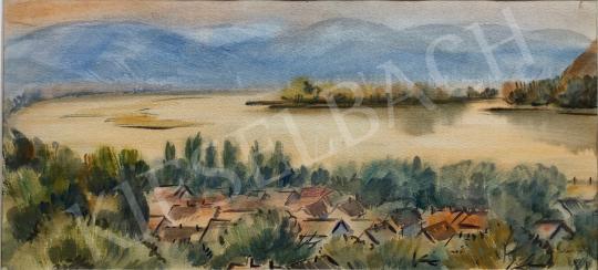 Eladó Lukács Ágnes - Nagymarosi látkép, 1980 festménye