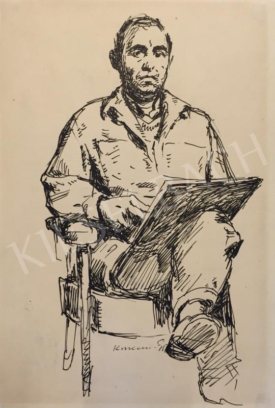 Eladó Konecsni György - Önarckép festménye