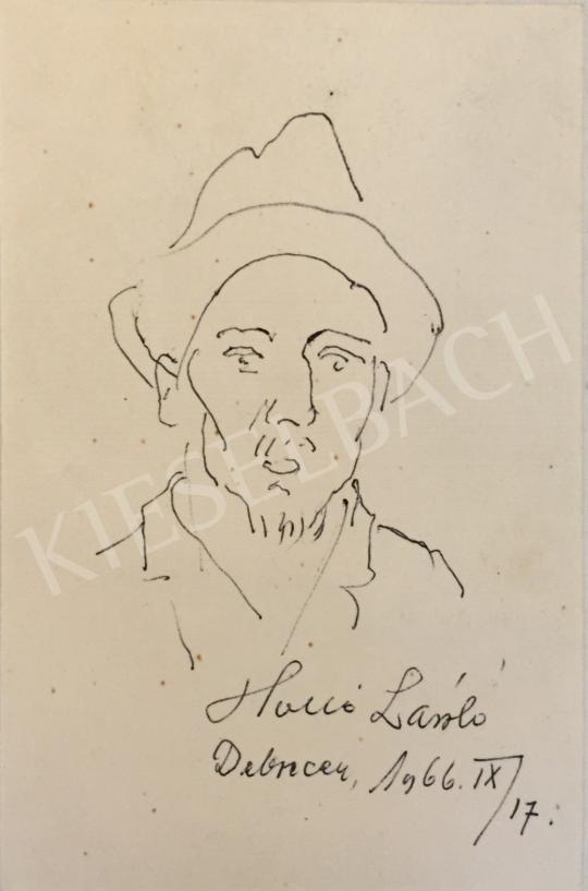 Holló László - Önarckép, 1966 festménye