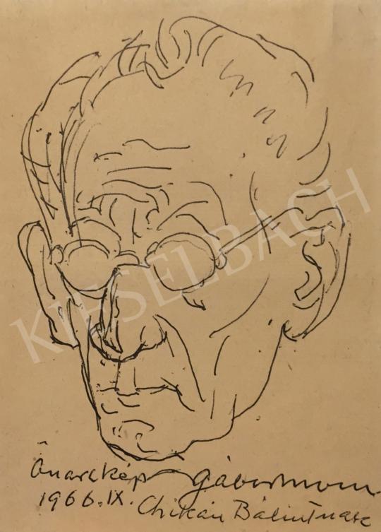 Eladó  Gábor Móric - Önarckép, 1966 festménye