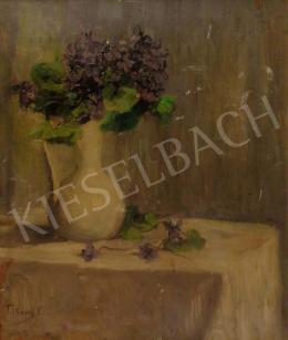 Telkessy, Valéria, - Violet Bush in Vase