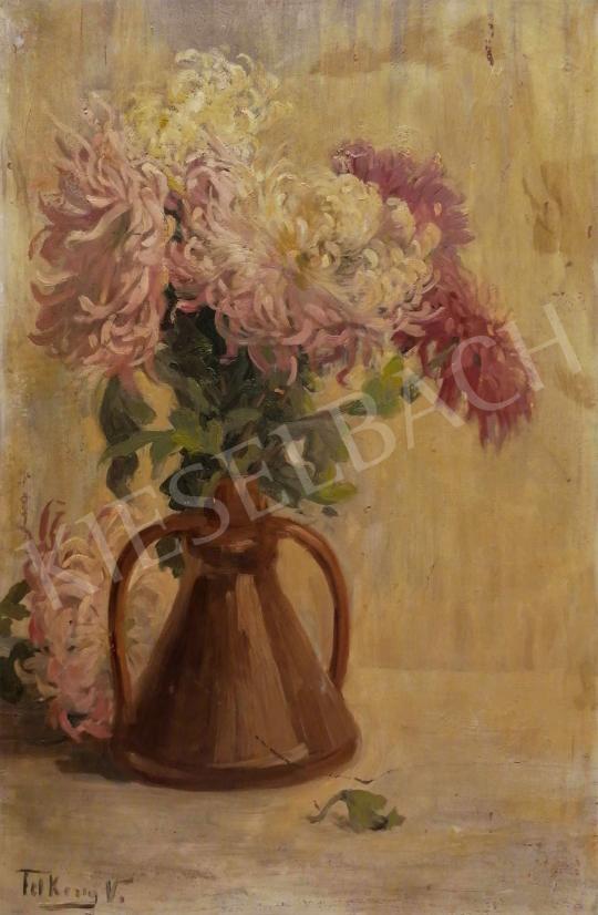 Eladó Telkessy Valéria - Virágcsendélet krizantémmal festménye