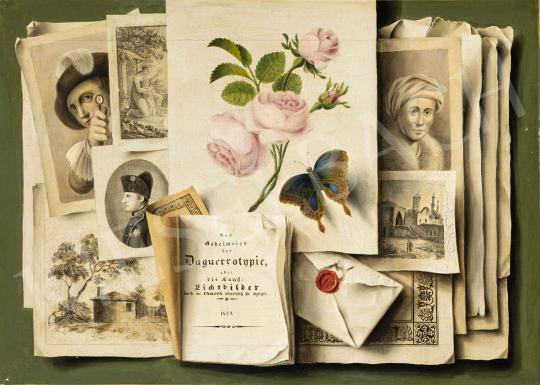 Ismeretlen közép-európai festő 1840 körül - A látvány új korszaka (A fotó és a korabeli sokszorosítás) festménye