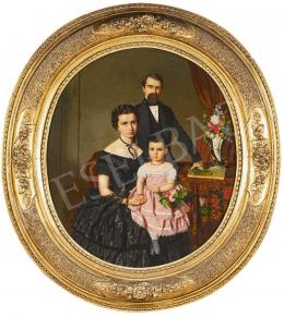 Canzi Ágost - Budapesti selyemkereskedő és családja (Wabrosch József és családja), 1857