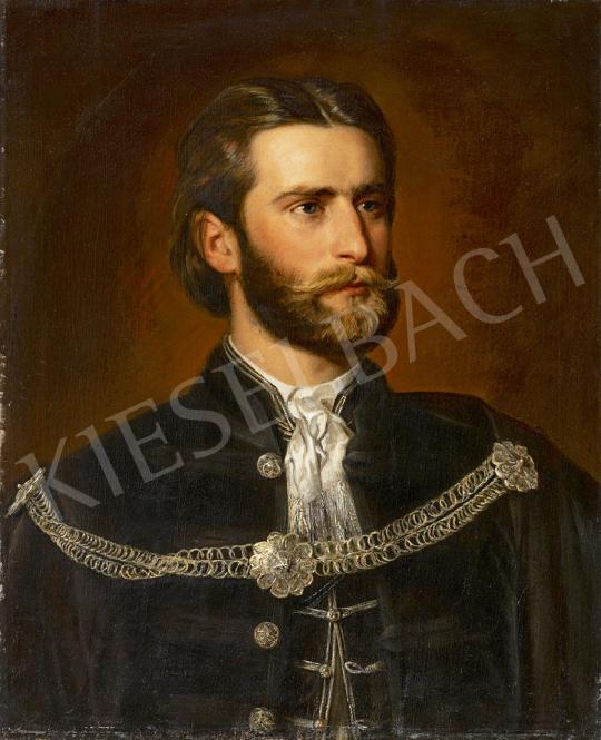 Ismeretlen magyar festő 1870 körül - Gundelfinger Gyula festő portréja festménye