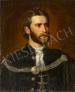 Ismeretlen magyar festő 1870 körül - Gundelfinger Gyula festő portréja