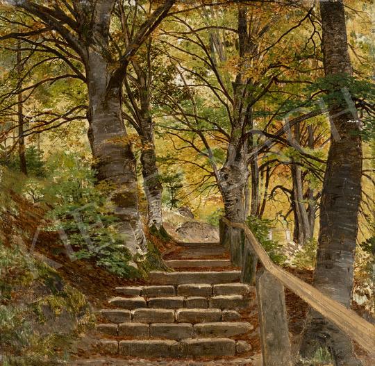 Gundelfinger Gyula - Kastélypark festménye