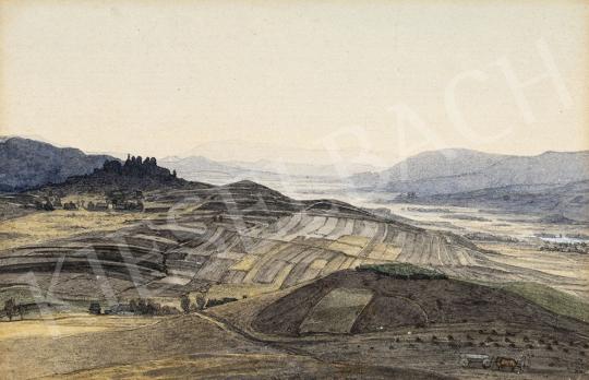 Gundelfinger Gyula - Megművelt földek (Szepesség) festménye