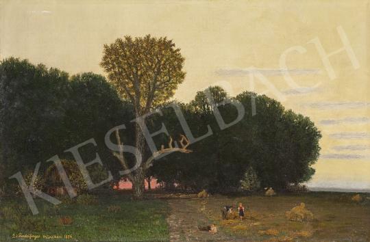 Gundelfinger Gyula - Szabadban (Alkonyat), 1876 festménye