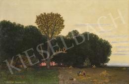 Gundelfinger Gyula - Szabadban (Alkonyat), 1876