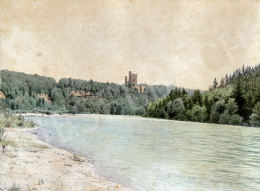 Gundelfinger, Gyula - Castle by the Water, around 1870