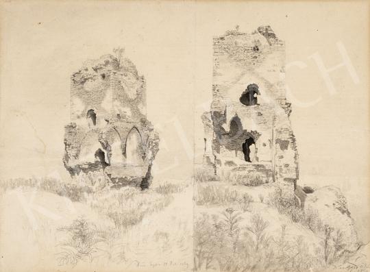 Gundelfinger Gyula - Diósgyőri várrom, 1869 festménye