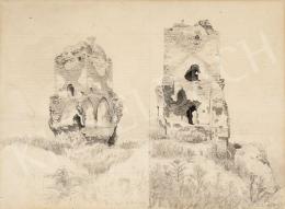 Gundelfinger, Gyula - Castle Ruins in Diósgyőr, 1869