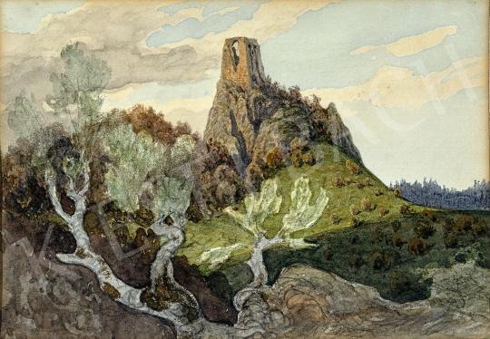 Gundelfinger Gyula - Felvidéki várrom festménye