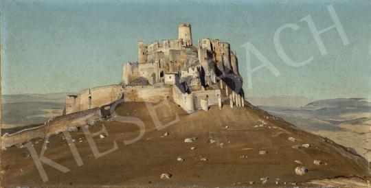 Gundelfinger Gyula - Szepes vára (Spišský hrad) festménye