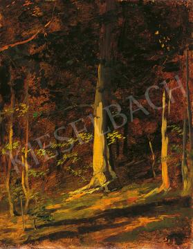 Benczúr Gyula - Naplemente az erdőben, 1870-es évek festménye