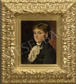 Munkácsy Mihály - Nő fehér csipkezsabóval (Madame Benoit), 1881
