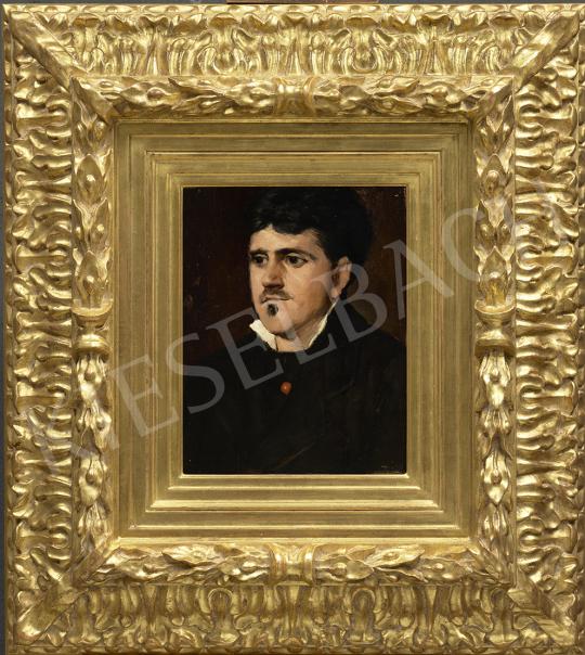Munkácsy Mihály - Francia nagypolgár portréja (Louis Désiré Benoit), 1881 körül festménye