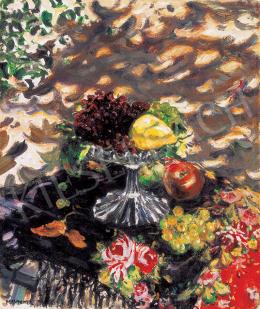 Perlmutter, Izsák - Autumn Still Life in the Artist's Garden (Impression under the Arbor), 1910's
