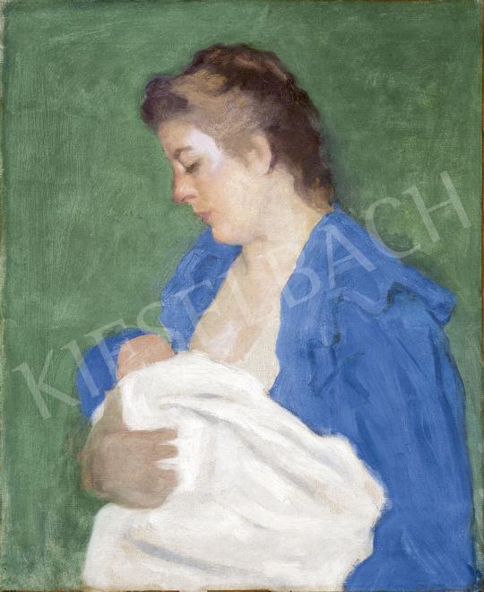 Ferenczy Károly - Anyaság (Anya gyermekével III.), 1912 festménye