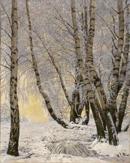 Olgyai, Viktor - Winter Forest, 1910's