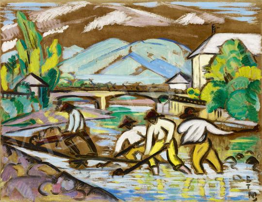Boromisza Tibor - Nagybányai Zazar-part festménye